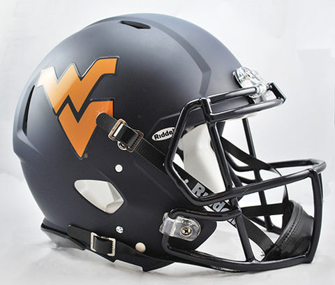 West Virginia Mountaineers Riddell Authentic Speed Helmet