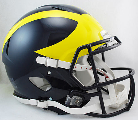Michigan Wolverines Riddell Authentic Speed Helmet