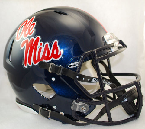 Mississippi Rebels Riddell Authentic Speed Helmet