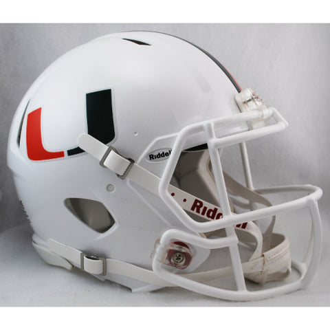 Miami Hurricanes Riddell Authentic Speed Helmet