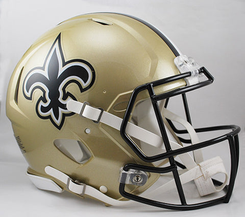 New Orleans Saints Riddell Authentic Speed Helmet