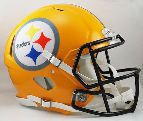 Pittsburgh Steelers 75th Anniversary Riddell Authentic Speed Helmet