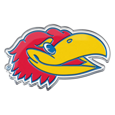Kansas Jayhawks Die Cut Color Auto Emblem - Alternate Logo