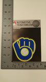 Milwaukee Brewers Retro Logo Die Cut Color Auto Emblem 3
