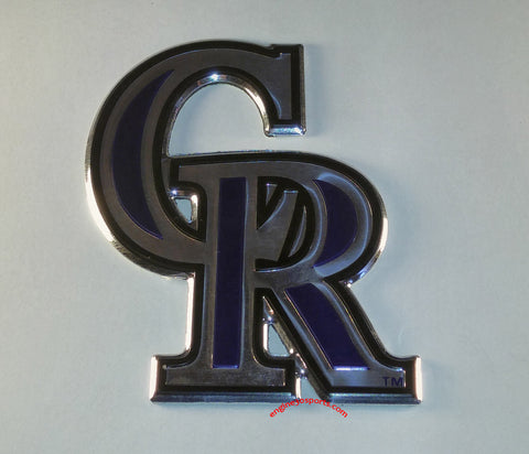 Colorado Rockies Die Cut Color Auto Emblem