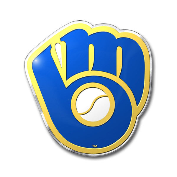 Milwaukee Brewers Retro Logo Die Cut Color Auto Emblem