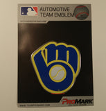 Milwaukee Brewers Retro Logo Die Cut Color Auto Emblem 2