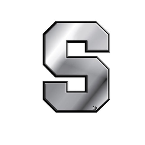 Syracuse Orange Die Cut Silver Auto Emblem