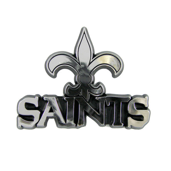 New Orleans Saints Die Cut Silver Auto Emblem