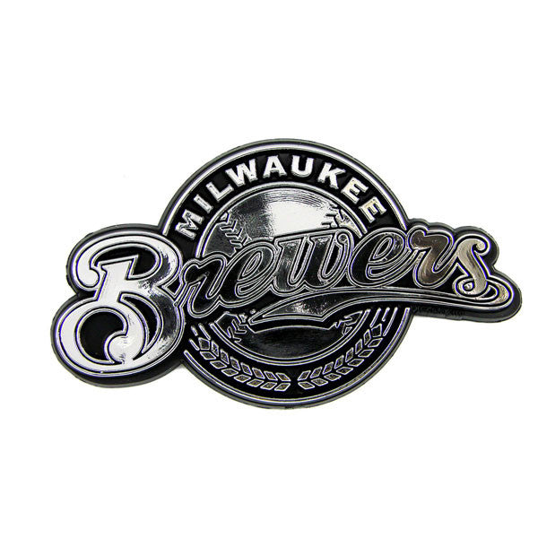 Milwaukee Brewers Die Cut Silver Auto Emblem