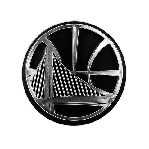 Golden State Warriors Die Cut Silver Auto Emblem