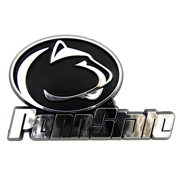 Penn State Nittany Lions Die Cut Silver Auto Emblem