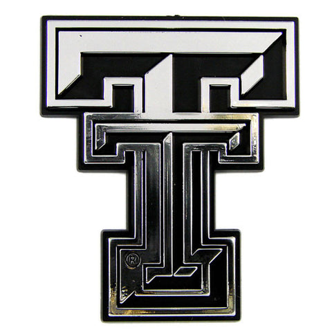 Texas Tech Red Raiders Die Cut Silver Auto Emblem