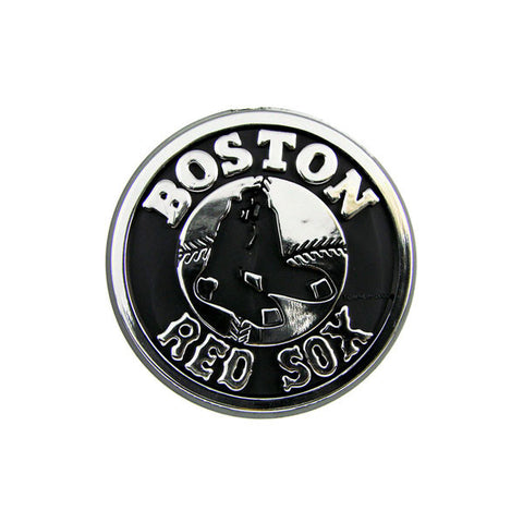 Boston Red Sox Die Cut Silver Auto Emblem