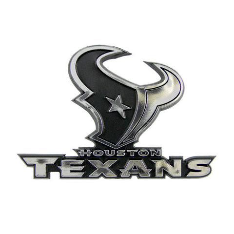 Houston Texans Die Cut Silver Auto Emblem