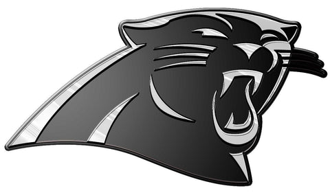 Carolina Panthers Die Cut Silver Auto Emblem