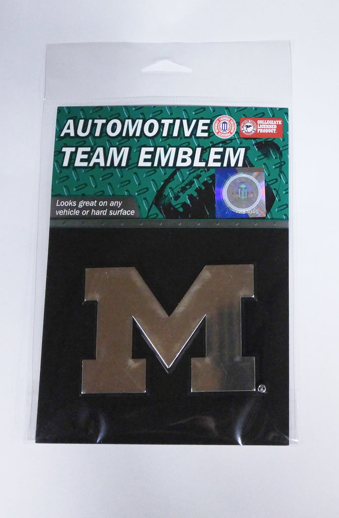 Michigan Wolverines Die Cut Silver Auto Emblem