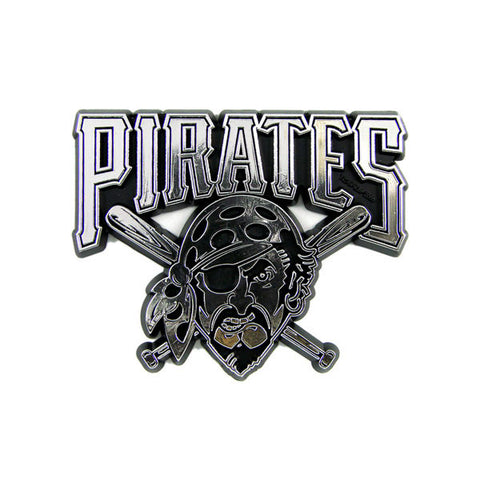 Pittsburgh Pirates Die Cut Silver Auto Emblem