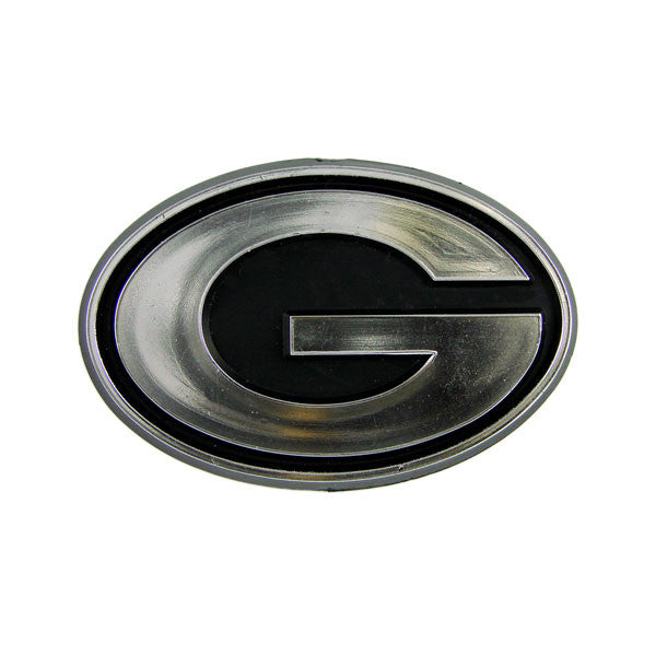 Green Bay Packers Die Cut Silver Auto Emblem