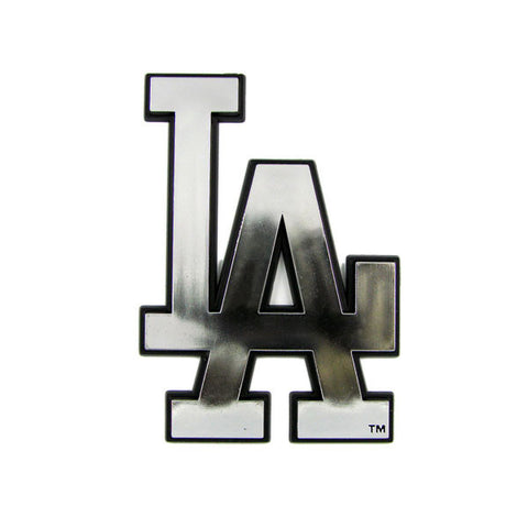 Los Angeles Dodgers Die Cut Silver Auto Emblem