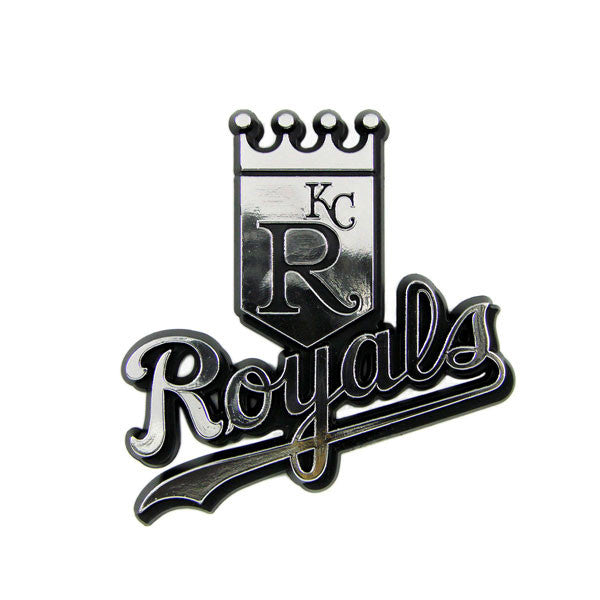 Kansas City Royals Die Cut Silver Auto Emblem