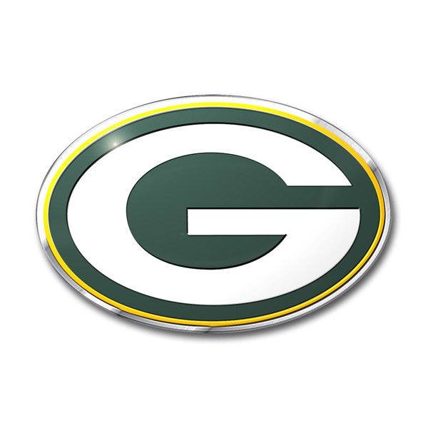 Green Bay Packers Die Cut Color Auto Emblem