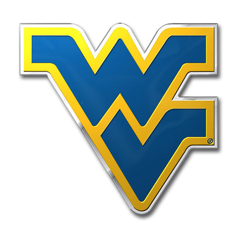 West Virginia Mountaineers Die Cut Color Auto Emblem