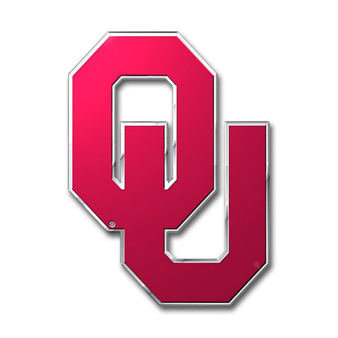 Oklahoma Sooners Die Cut Color Auto Emblem