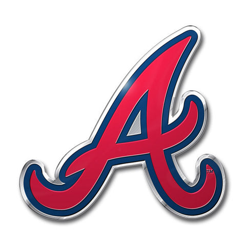 Atlanta Braves Die Cut Color Auto Emblem