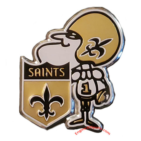 New Orleans Saints Die Cut Color Auto Emblem - Throwback Logo