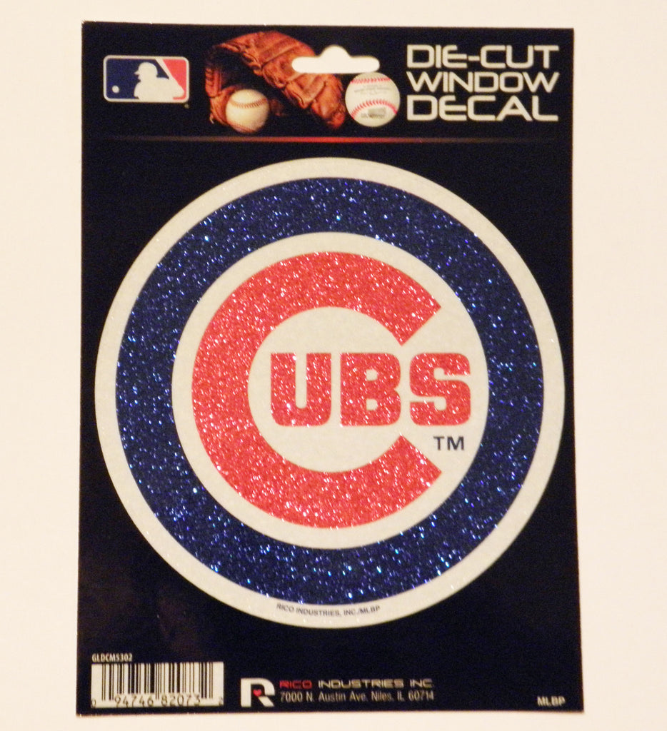 Chicago Cubs Bling Die-Cut Decal