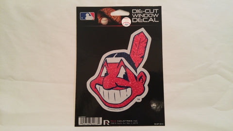 Cleveland Indians Chief Wahoo Bling Die-Cut Decal