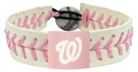 Washington Nationals Pink Bracelet