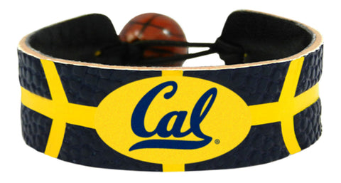 Cal Bears Team Color Basketball Bracelet