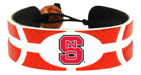 North Carolina State Wolfpack Team Color Basketball Bracelet