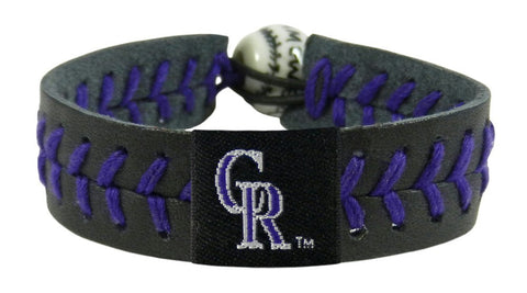 Colorado Rockies Team Color Bracelet - Black