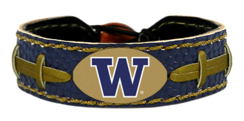 Washington Huskies Team Color Football Bracelet
