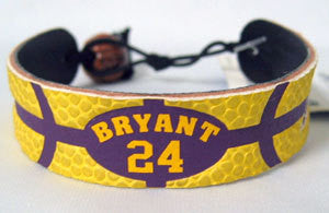 Los Angeles Lakers Team Color Kobe Bryant Bracelet