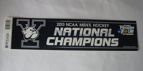 Yale Bulldogs 2013 National Champions Bumper Sticker