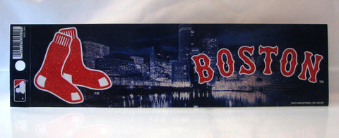 Boston Red Sox Bumper Sticker - Glitter