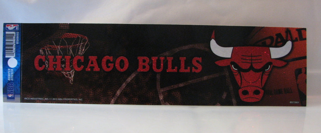 Chicago Bulls Bumper Sticker - Glitter
