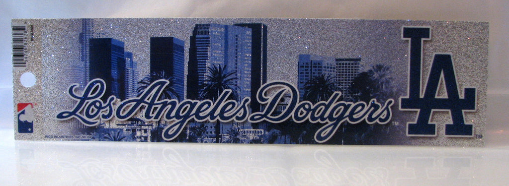 Los Angeles Dodgers Bumper Sticker - Glitter