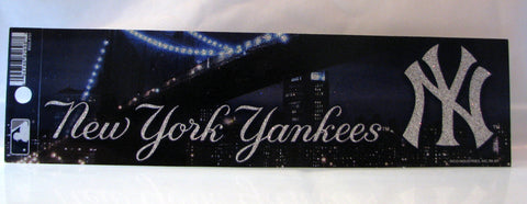 New York Yankees Bumper Sticker - Glitter