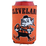 Cleveland Browns Retro Style 2 Sided Can Holder