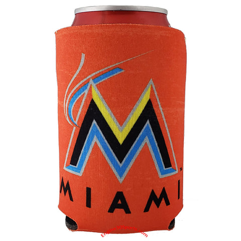 Miami Marlins Vintage Design 2 Sided Can Holder