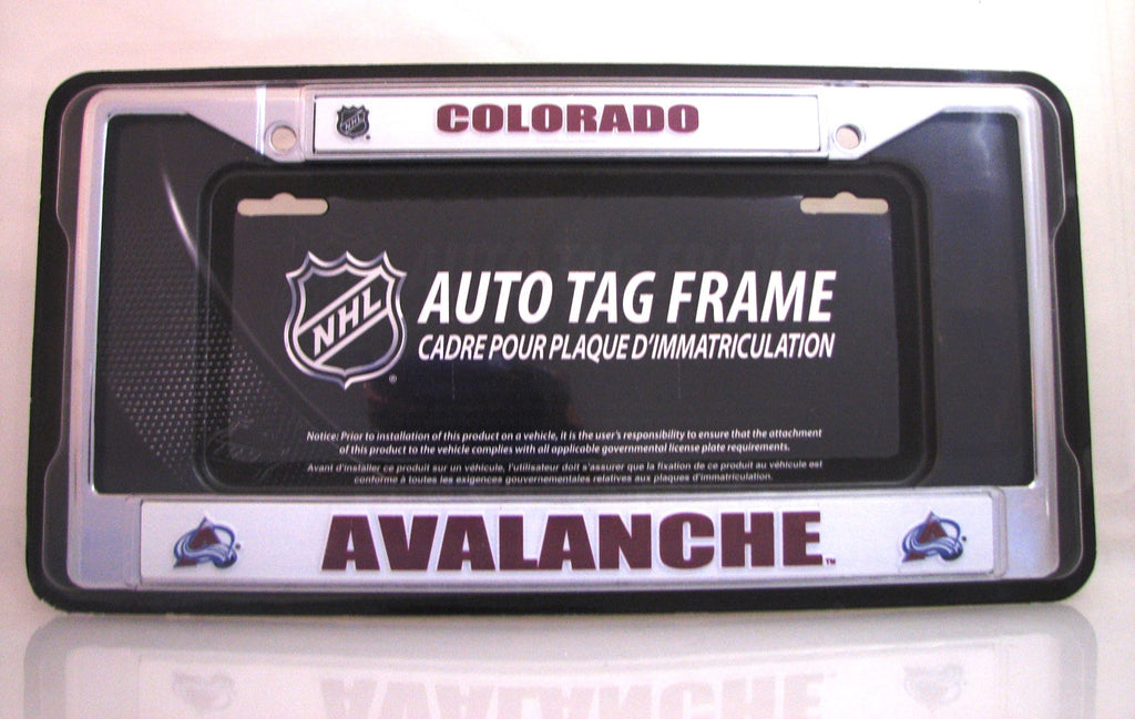 "Colorado Avalanche 6""x12"" Chrome License Plate Frame"