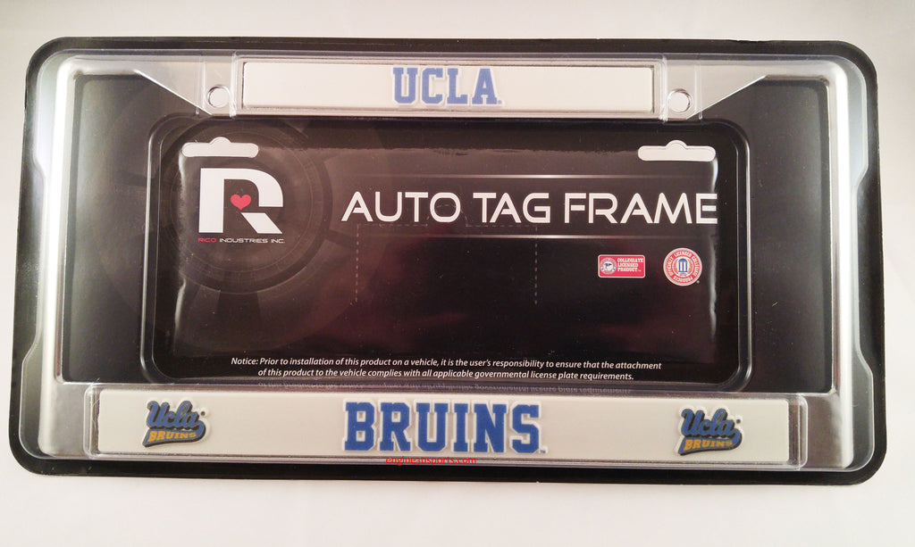 "UCLA Bruins 6""x12"" Chrome License Plate Frame"