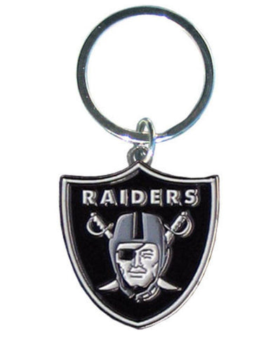 Oakland Raiders Chrome Logo Cut Keychain
