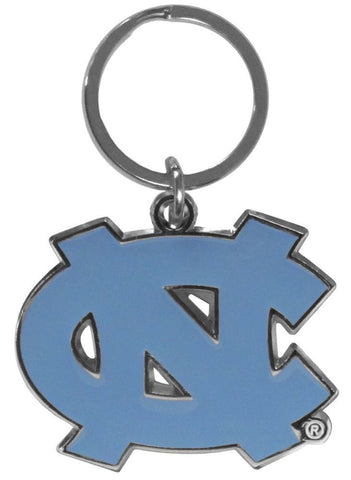 North Carolina Tar Heels Chrome Logo Cut Keychain