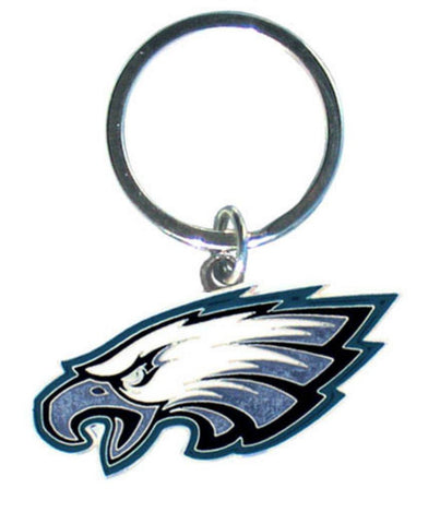 Philadelphia Eagles Chrome Logo Cut Keychain